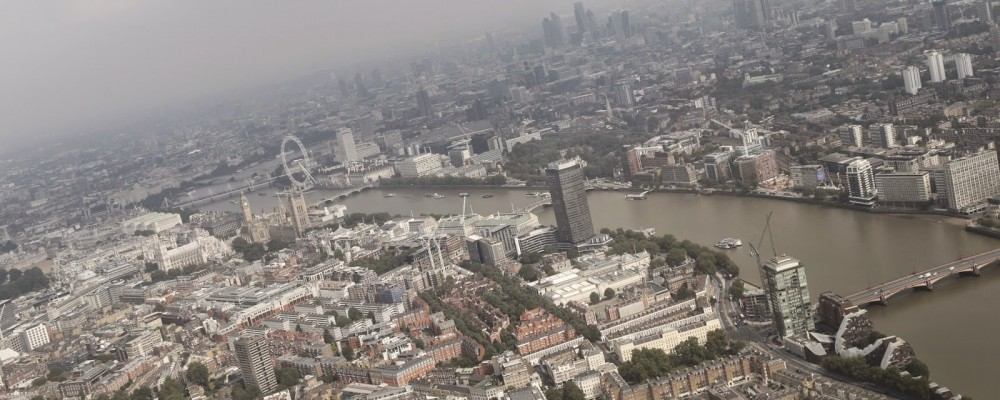 Claire Halas Blog London Skyline from the air